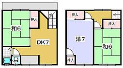 大峰生嶋借家[2階]の間取り