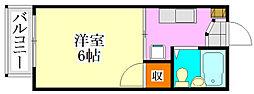 ラレーブ津田沼2[B1号室]の間取り