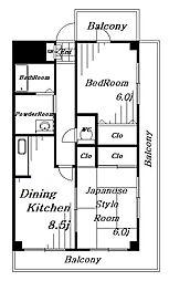 comodo Amaji[2階]の間取り
