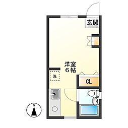 h1242[1階号室]の間取り
