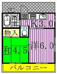 千代野コーポ[2階]の間取り