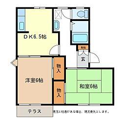 フレグランスゆりE棟[1階]の間取り