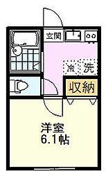 AZEST-RENT一橋学園II 2階1Kの間取り