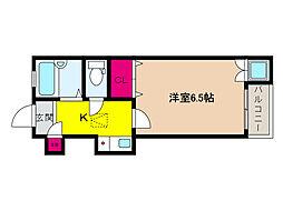 阪急神戸本線 六甲駅 徒歩10分の賃貸アパート 1階1Kの間取り
