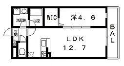 ドミソレイユII[302号室号室]の間取り