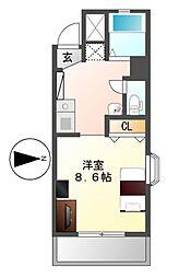 ノーブルハウス吉田[5階]の間取り