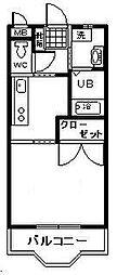 メゾンドール青葉[2階]の間取り