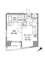 グランベルNAKAOCHIAI[1301号室号室]の間取り