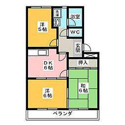 愛知県名古屋市緑区大高台1丁目の賃貸アパートの間取り