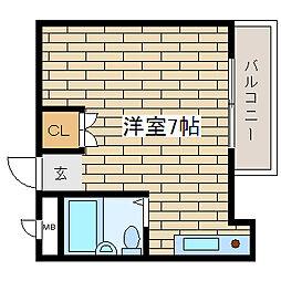 兵庫県神戸市須磨区潮見台町1丁目の賃貸アパートの間取り