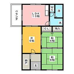 清水コーポ[2階]の間取り