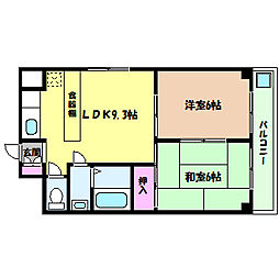 兵庫県神戸市灘区天城通8丁目の賃貸マンションの間取り