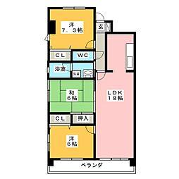 村瀬[3階]の間取り