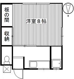 サンテラス・ウエハラ1[2階]の間取り