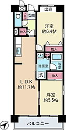 Well Valley井土ヶ谷[5階]の間取り