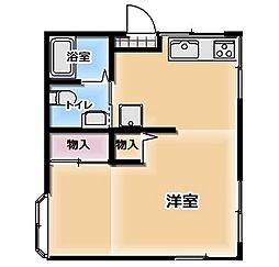 広島県呉市焼山北1丁目の賃貸アパートの間取り