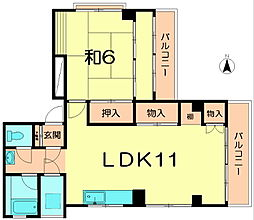 プレジール西大寺[3階]の間取り