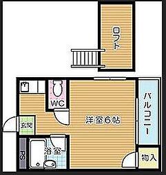 福岡県北九州市八幡西区日吉台2丁目の賃貸マンションの間取り
