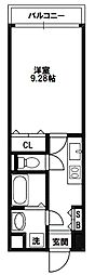 クリーデンス新大阪[6階]の間取り