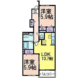 ワイズ I[1階]の間取り