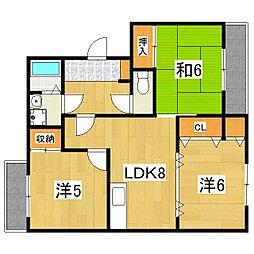 カーサNAKAMURA1[303号室]の間取り