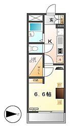 レオパレス柳[3階]の間取り