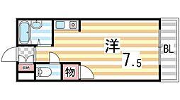 メゾン錦[203号室]の間取り