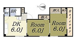 高岡マンションII[4階]の間取り