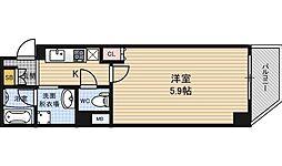 みおつくし西梅田[6階]の間取り