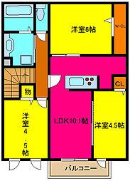 d−room横小路[2階]の間取り