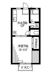 ファミール京屋B[1階]の間取り