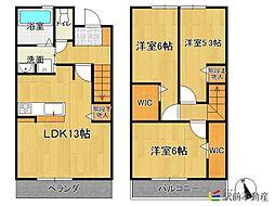 (仮)D-room香椎2丁目[103号室]の間取り