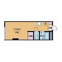 エクレールKVI[1階]の間取り
