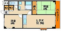 シャンポール西藤江[2階]の間取り