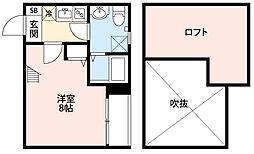 ボナール箱崎駅東[2階]の間取り