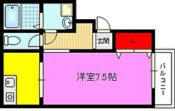 ロータリーマンション鴻池倶楽部[4階]の間取り