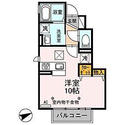 セジュール杏[106号室]の間取り