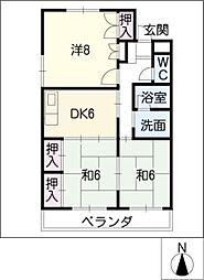 メリーハウス[3階]の間取り