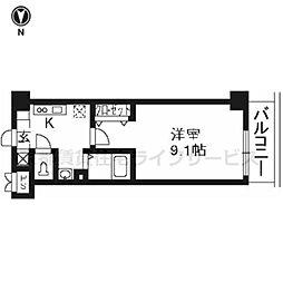 プラネシア星の子京都駅前[702号室]の間取り