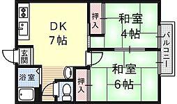 鳴海マンション[8号室号室]の間取り