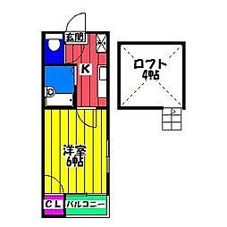 パルム南福岡[2階]の間取り