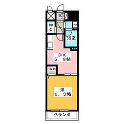 ライオンズマンション柳ヶ瀬[2階]の間取り