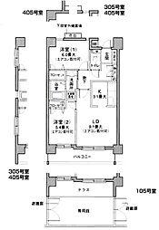 グランフォレスト片倉[205号室]の間取り
