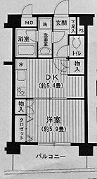BAY・WEST[3階]の間取り