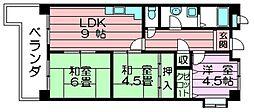 大阪府東大阪市吉田7丁目の賃貸マンションの間取り