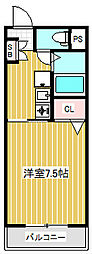 アパートメントカヤ[1階]の間取り