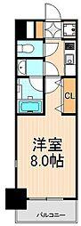 東京都台東区鳥越2丁目の賃貸マンションの間取り