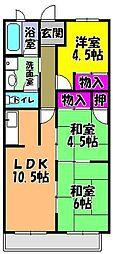 グランドメゾン津々山台[2階]の間取り