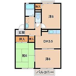 ヴィラフィオーレII[2階]の間取り