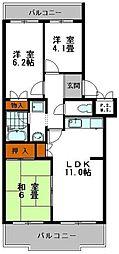 サニーハイツ嵐山[1階]の間取り